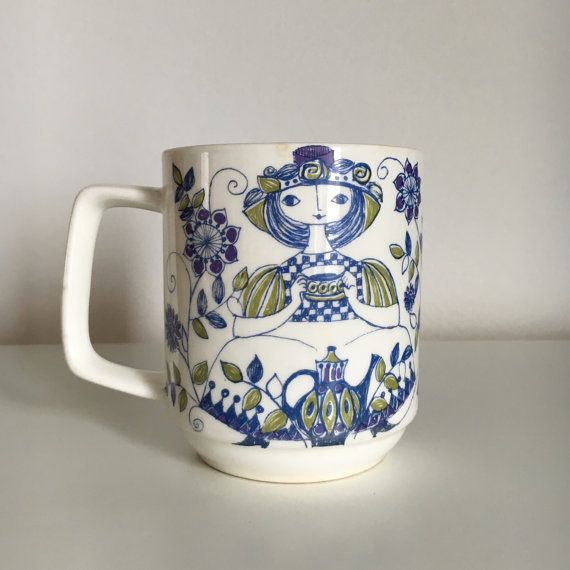 Figgjo Lotte Turi Design Norway Coffee Mug/Cup by StickyStuff