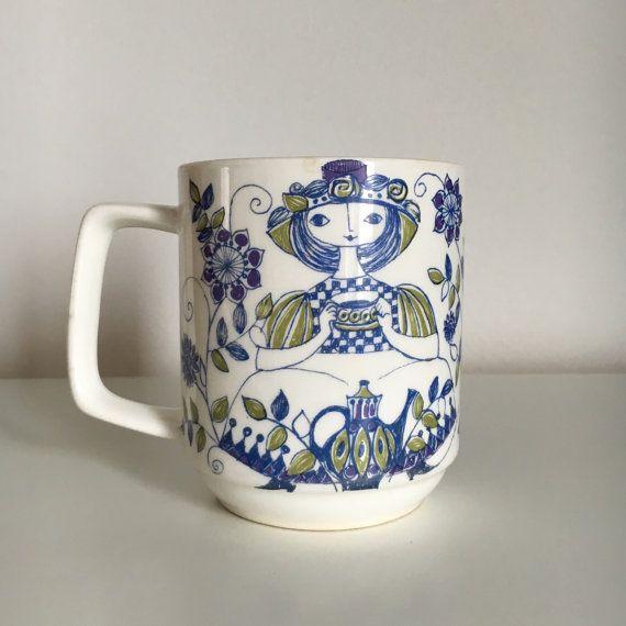 Figgjo Lotte Turi Design Norway Coffee Mug/Cup by StickyStuff