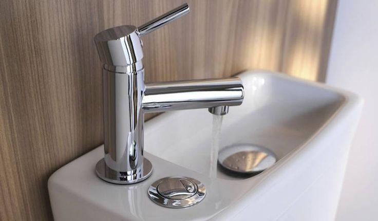 Toilettes avec lave-mains intégré Duetto © Castorama