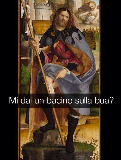 Francesco da Milano . Trittico dettaglio S. Rocco