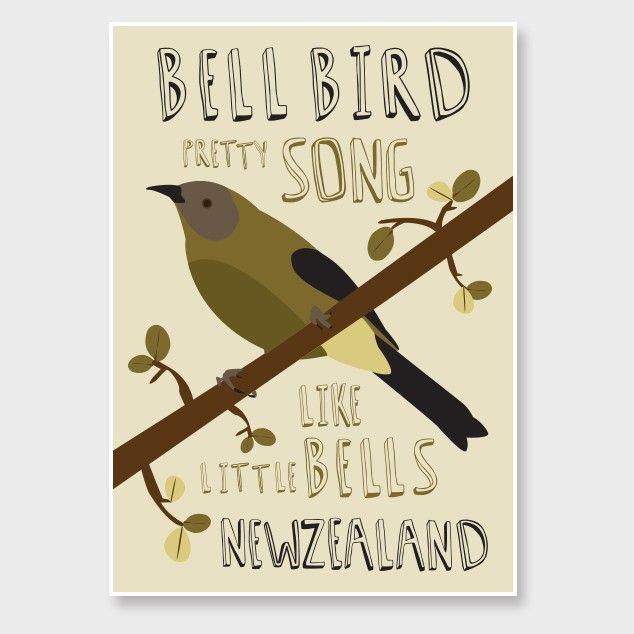 Bellebird Art Print by Alice Berry