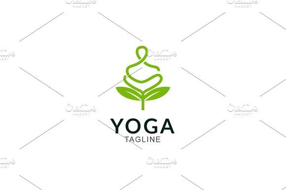 Yoga Nature by GoldenCreative on @creativemarket