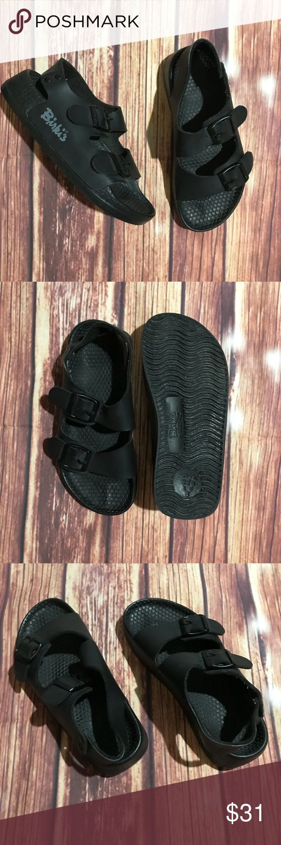 Birki's by Birkenstock water shoe. Kids water shoe strap across heel for stability. Adjustable straps. Size 34 which is a 3-3.5 in US size. Excellent condition!m, practically brand new!  Unisex. Birkenstock Shoes