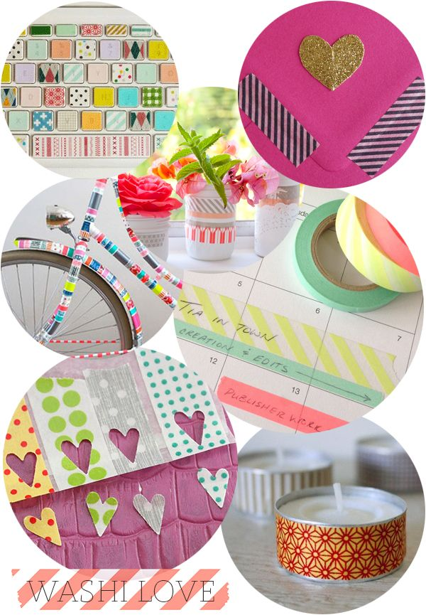 Washi Tape Crafts - links to lots of on-line places to buy it too