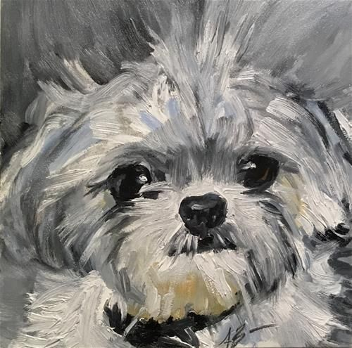 "Daily Paintworks - ""Molly"" - Original Fine Art for Sale - © Annette Balesteri"