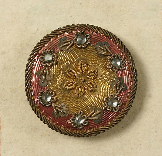 Button from a french buttons book c1790 . amazing work . metmuseum.org     bcb21