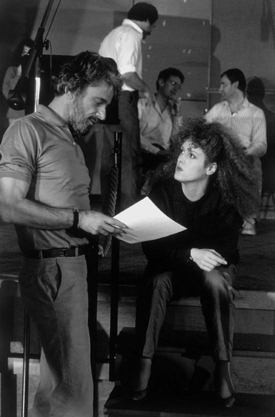 Stephen Sondheim and Bernadette Peters