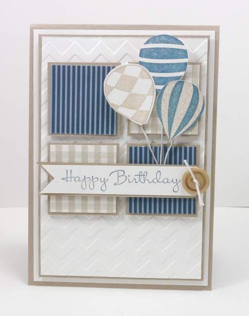 Stampin Up Up Up & Away card using freshly made sketches 110 by Narelle