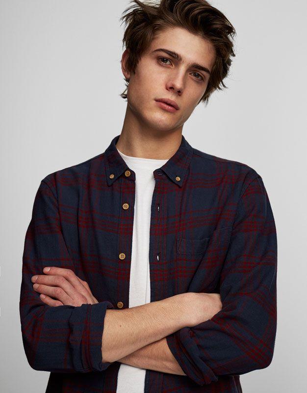 Camisa cuadros - Camisas - Ropa - Hombre - PULL&BEAR México
