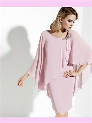 Pink Short Chiffon Mother Of The Bridal Dress But in another darker color and long