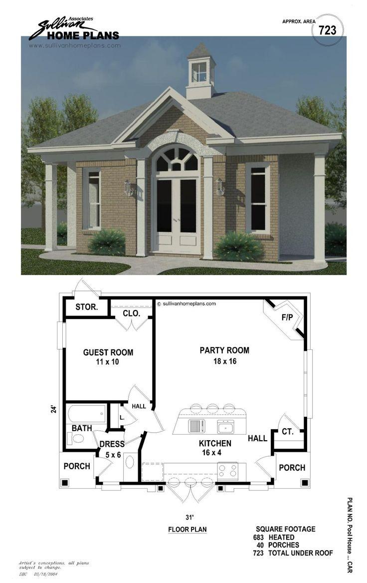 B1-0723-c-p | Back yards | Pinterest | Pool houses, House