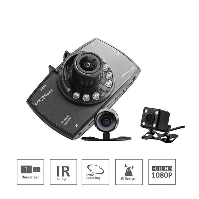 Cheapest Price $25.22, Buy Dual Lens 2.7inches High Cost Performance Cycle Recording Car DVR Camera HD1080P Logger Night Vision With Rearview View Camera