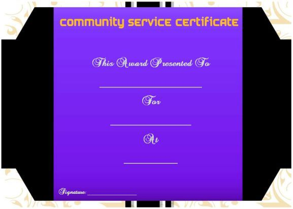 12 best Community service certificate of completion images on - fresh hard drive destruction certificate template
