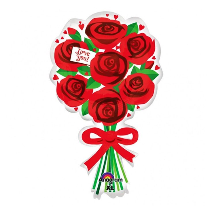 fancydressvip - Bouquet of Red Roses SuperShape Foil Balloon, £3.99 (http://www.fancydressvip.com/party/valentines-day/valentines-bouquet-of-red-roses-supershape-foil-balloon/)