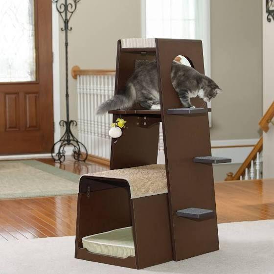 Sauder Woodworking Modular 42 in. Modern Cat Tower - 416819