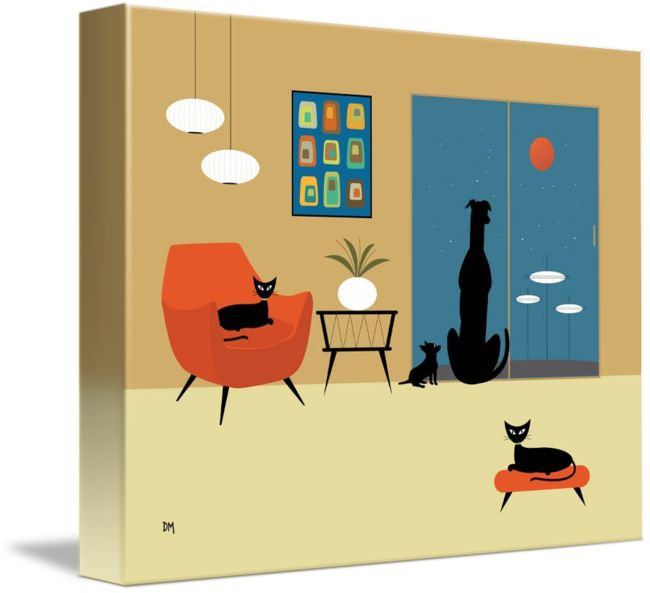 Framed Prints For Living Room Of Cats