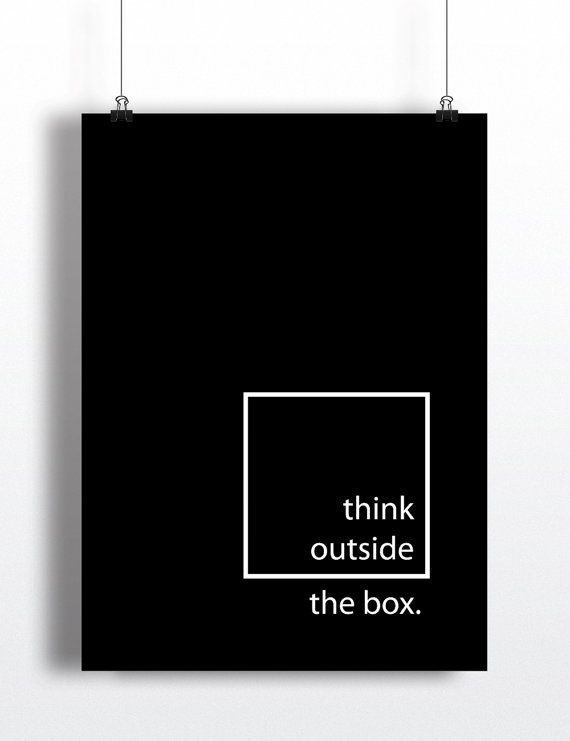 Think Outside the Box Art Print  Instant Download  by dailydosage