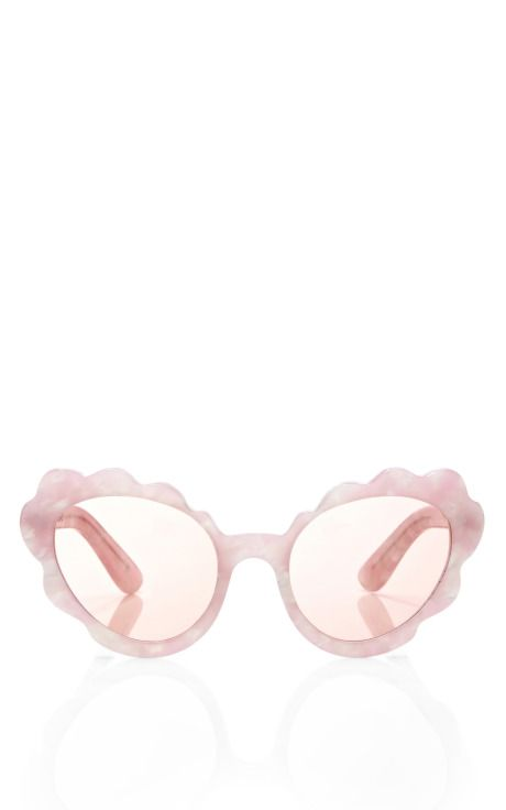 Shop Flower Cat Eye Sunglasses In Light Pink Pearl by Opening Ceremony Now Available on Moda Operandi