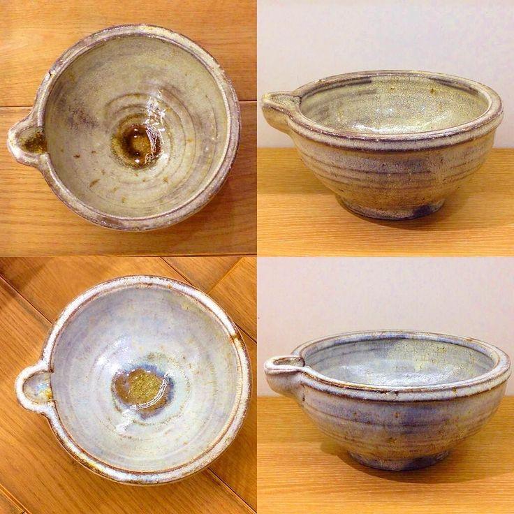 阪本健さん作 片口大鉢 片口なので汁物にも最適 大きめなのでがっつり食べたい時はこの器で(oo) #阪本健 #陶器 #器 #大鉢 #織部下北沢 #織部 #織部下北沢店 #陶器 #器 #ceramics #pottery #clay #craft #handmade #oribe #tableware #porcelain