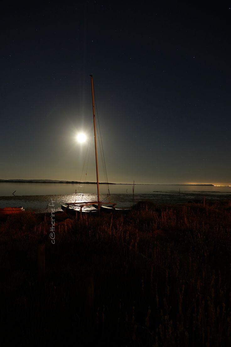 Bages...(Aude) Un soir de pleine lune...