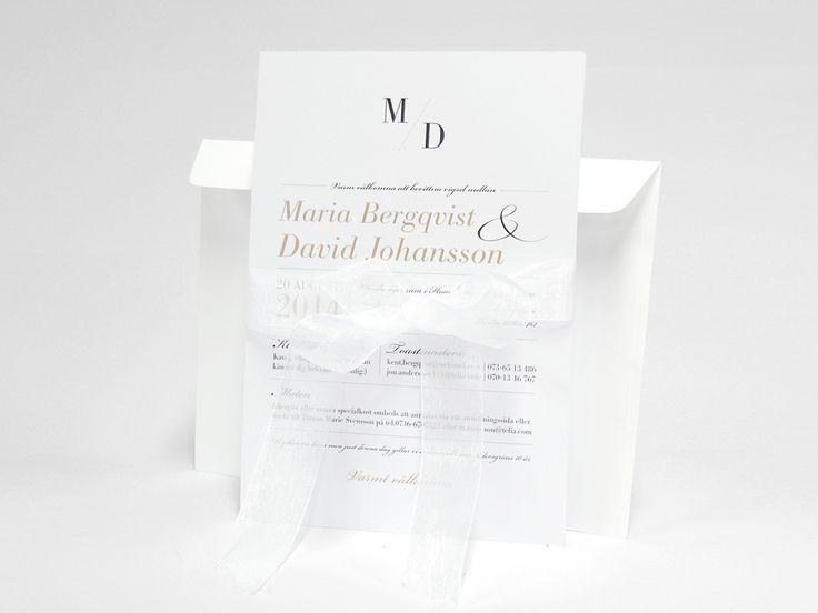 bröllop inbjudningskort med vitt kuvert och band elegant annorlunda bröllop inbjudan invitation tryck