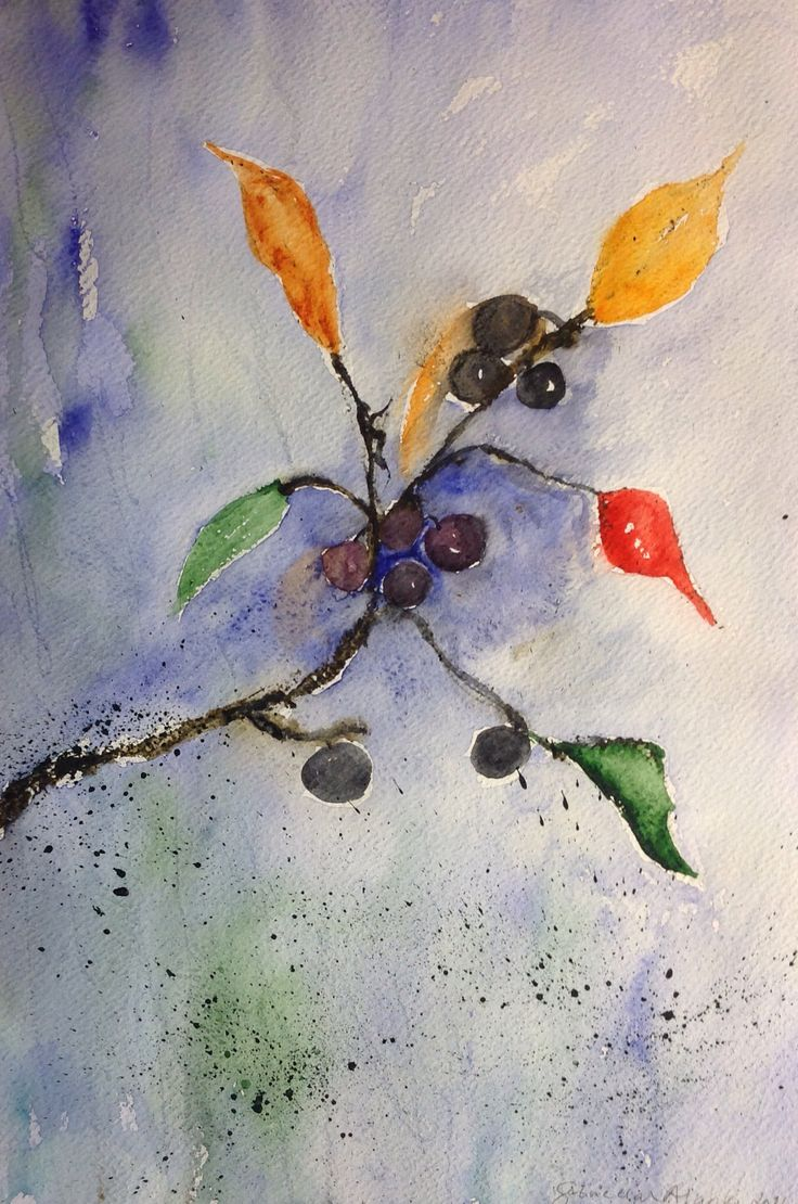 Watercolor 2016, sign by Gabriella Alanko