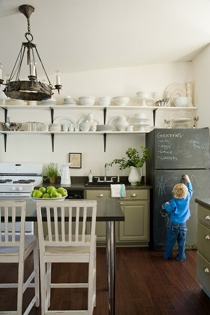Chalkboard fridge/ Nevera-pizarra