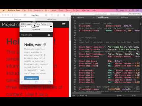 Free Open Source - Takana - live edit SCSS & CSS