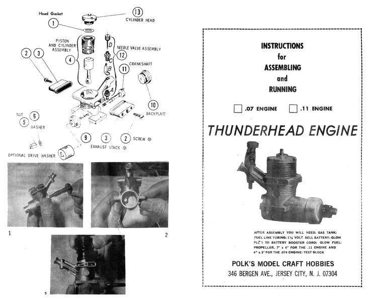 Gilbert Thunderhead instructions. page 1