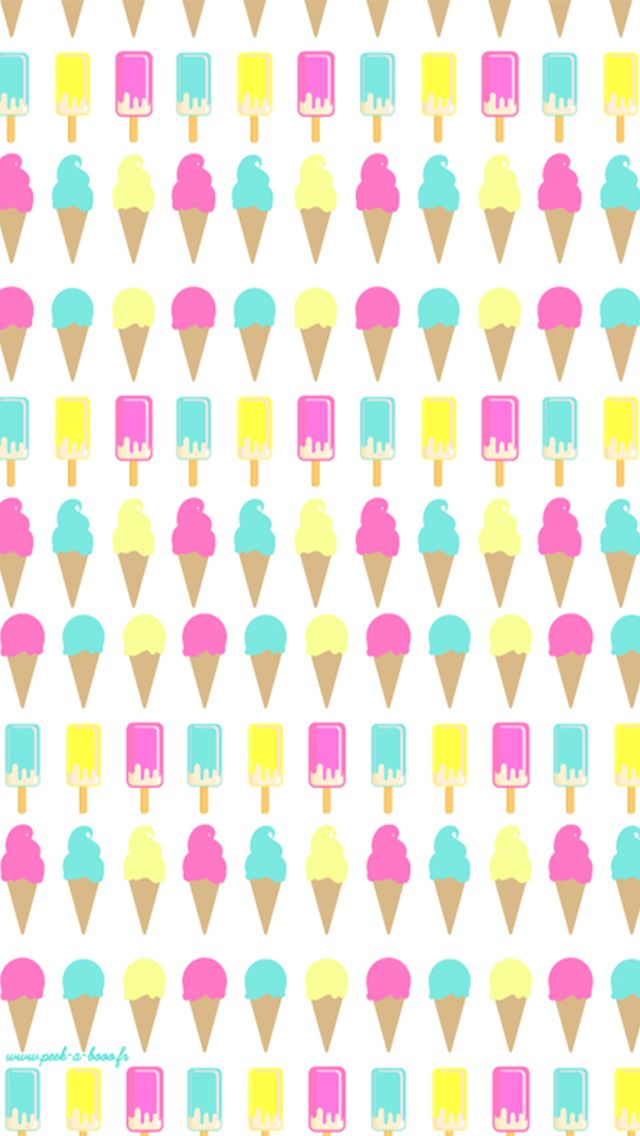 Ice cream cone pattern find more cute iphone android for Where can i find wallpaper
