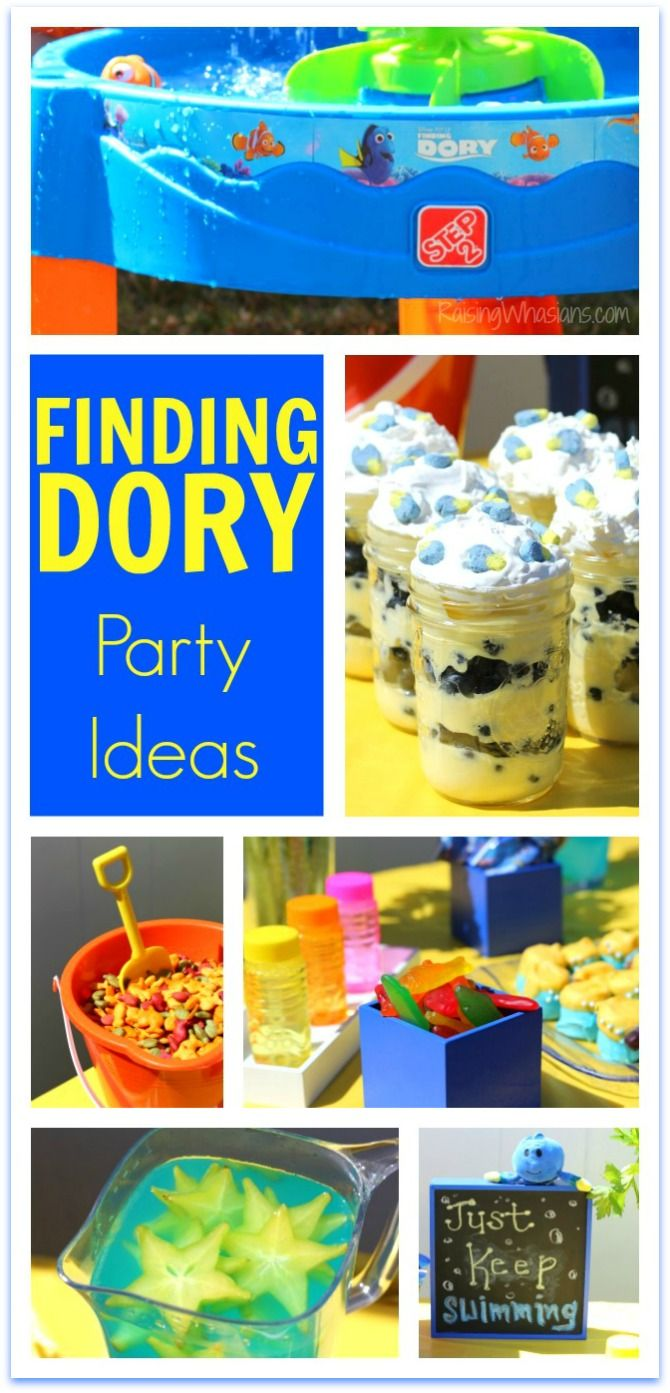 Finding Dory Party Ideas | DIY DIsney Party with Food, Decor, Kids Activities & more + Step2 Finding Dory Whirlin' Waves Water Table Review #Step2Kids (AD)