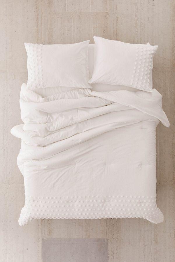 Tufted Dot Comforter Snooze Set Jersey Comforter Comforters Bed