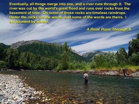 A river runs through it quote analysis essay