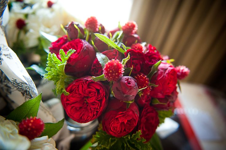 Love and legos - Red garden rose bouquet ...