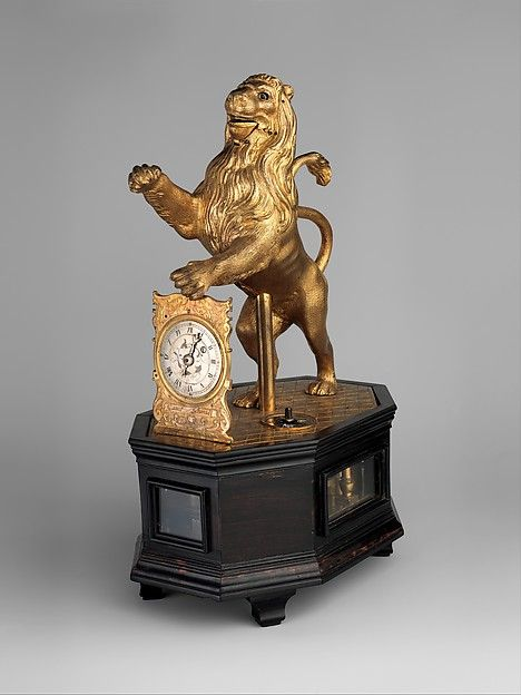 """Clockmaker: Karl Schmidt (German, ca/ 1590-1635/36). Automaton clock in the form of a lion, ca. 1620-35. The Metropolitan Museum of Art, New York. Gift of J. Pierpont Morgan, 1917 (17.190.1549)   This work is featured in the """"The Luxury of Time: European Clocks and Watches"""" exhibition, on view through March 27, 2016. #LuxuryofTime"""
