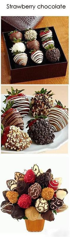 Chocolate & Strawberry. I love these despite everyone admonishing me to refrain from eating them, due to my headaches. Lord, deliver me from this temptation! :-):
