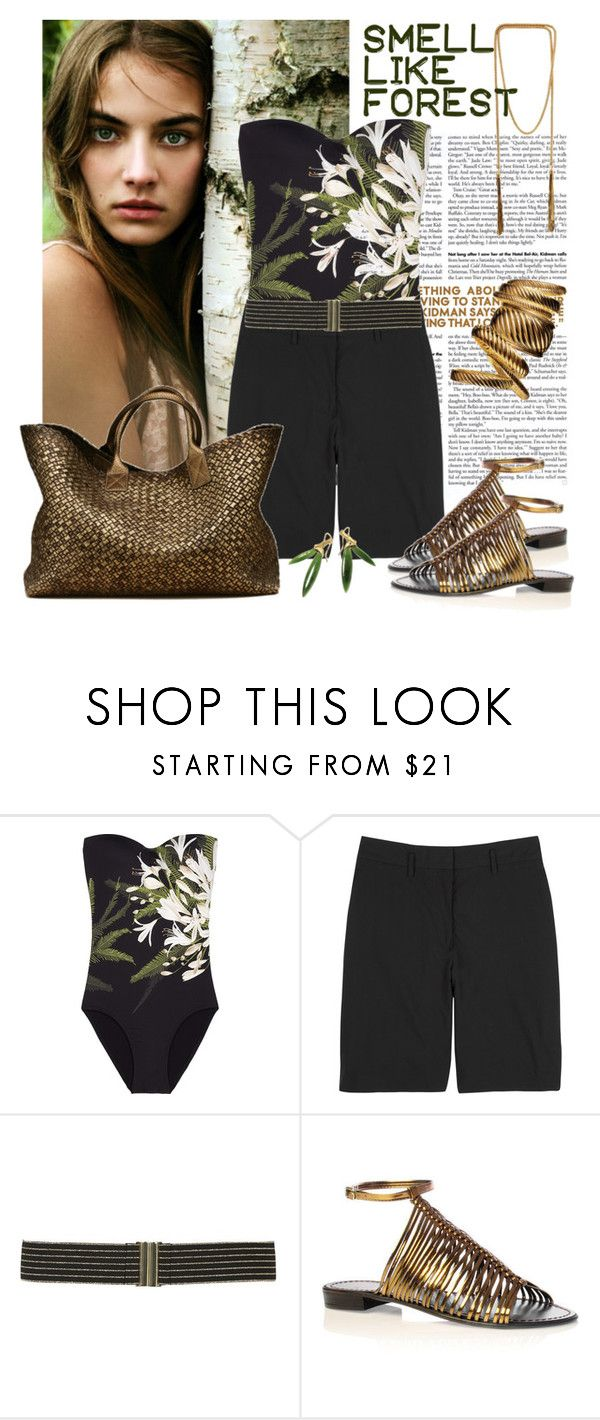 smell like forest by kamilka on Polyvore featuring moda, Narciso Rodriguez, JETS, Carvela, French Connection, Oasis, Metropolis, chain necklaces, gladiator sandals and big bangles