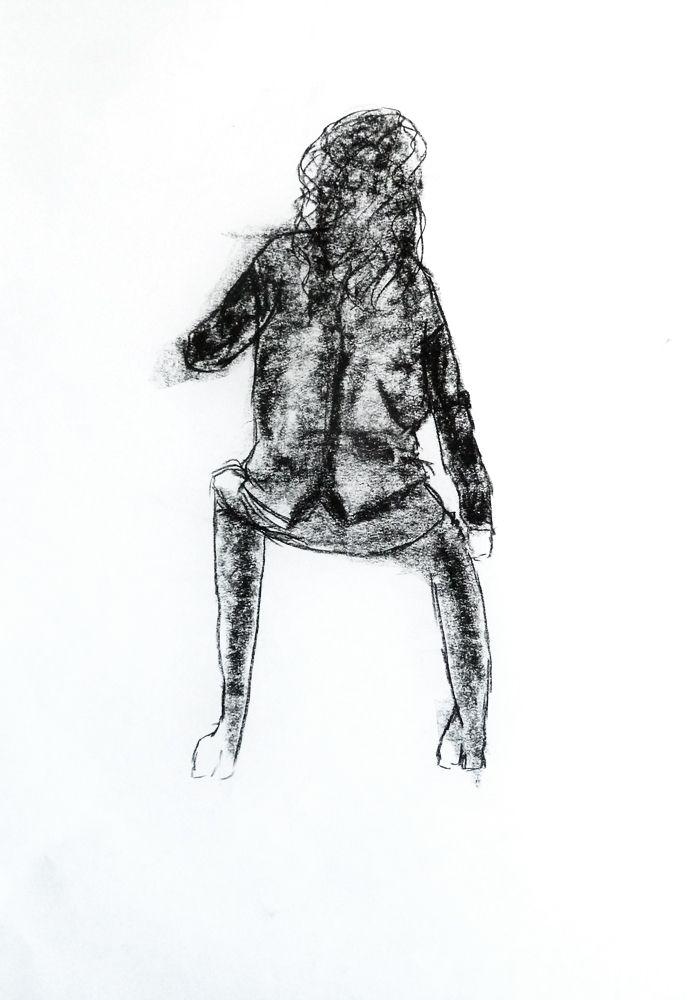 Madalena Ventura. Carvão s/ papel, 59,4 x 42 cm