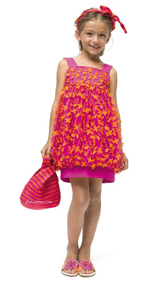 ALALOSHA: VOGUE ENFANTS: These I PINCO PALLINO SS15 Flowers dresses are going to propel your look from simple to standout!