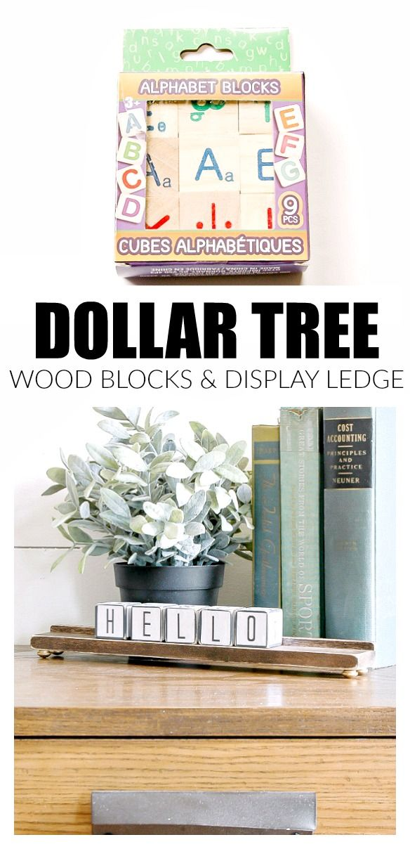 Dollar Tree wood alphabet blocks get a modern farmhouse makeover, perfect for creating a desktop calendar or welcoming notes to guests. #Dollartree #DollarStore #dollarstorecrafts