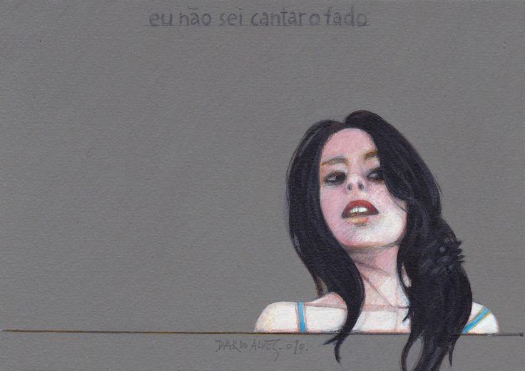 eu não sei cantar o fado/ acrílico sobre papel/12x18 cm/ 2010
