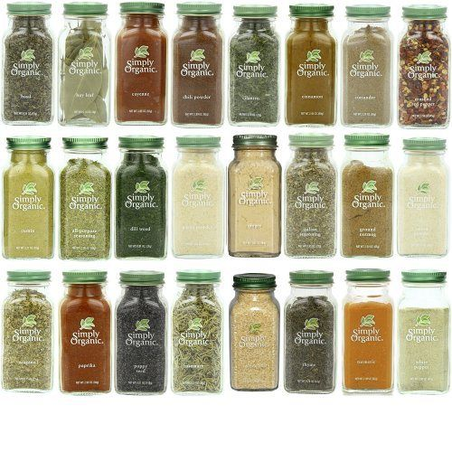 Simply Organic Gourmet Top 24 Spices Set - http://mygourmetgifts.com/simply-organic-gourmet-top-24-spices-set/