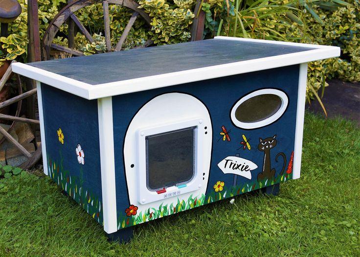12 besten katzenhaus bilder auf pinterest liebling. Black Bedroom Furniture Sets. Home Design Ideas