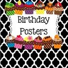 I whipped up these cute little birthday mini-posters that I am going to laminate and write my student birthdays on with a Vis-a-vis marker.   If y...
