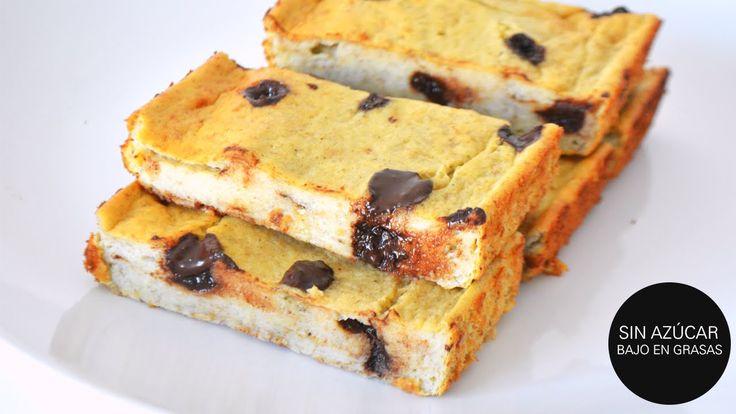 Postres Saludables: Pudín de Banano Choco-Chip | 4 ingredientes