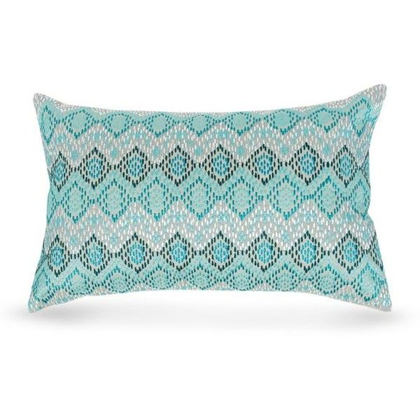 Carol & Frank  Darla Oblong Decorative Pillow ($80) ❤ liked on Polyvore featuring home, home decor, throw pillows, blue, blue toss pillows, oblong toss pillows, blue home decor, blue throw pillows and blue accent pillows