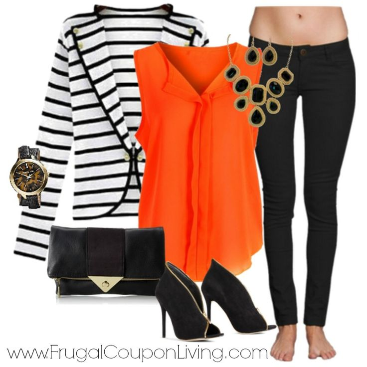 Frugal Coupon Living's Frugal Fashion Friday Relaxed Weekend Outfit.Polyvore concept.