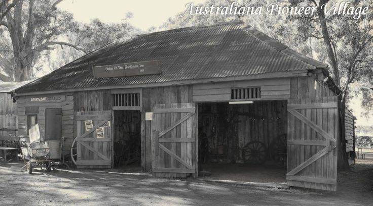 #Stable of the #Black #horse #Inn. #APV Built in 1819 Situated on the grounds of the #AustralianaPioneerVillage