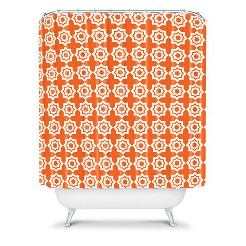 DENY Designs Home Accessories | Khristian A Howell Moroccan Mirage Orange Shower Curtain