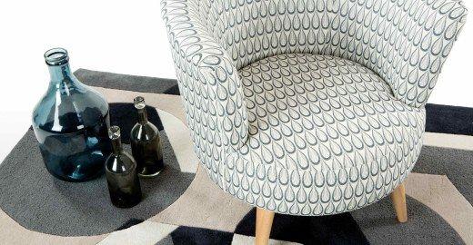Lulu ronde stoel, geweven druppelpatroon | made.com